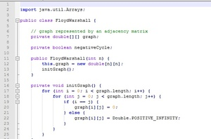 Floyd Warshall Algorithm Implementation   Finding Shortest Path   Java Assignments Help