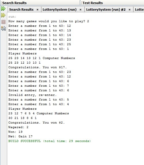 Instant Lottery System in Java   Java Assignment   Java Homework