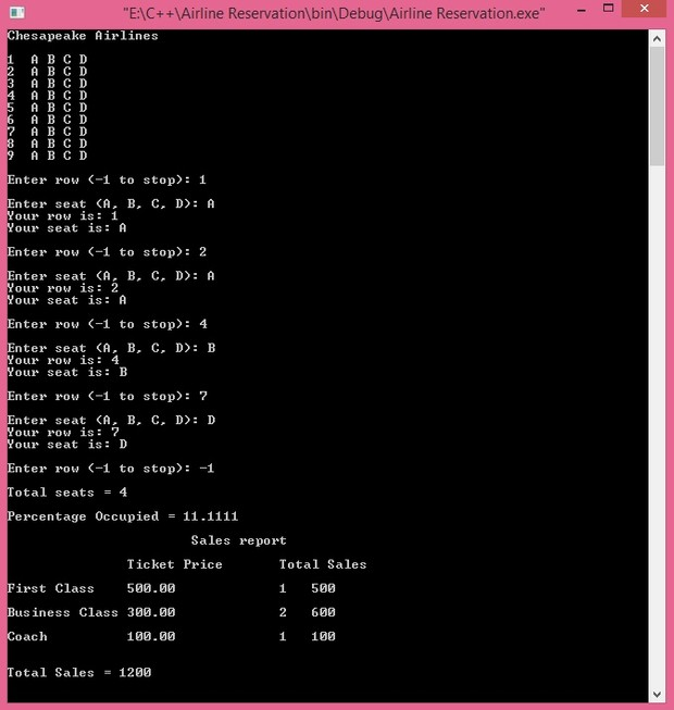Passenger Seats Assigning Program full implementation in C++ - HJ Soft
