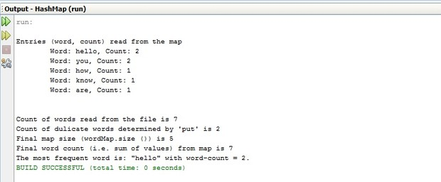 Hash Map Implementation in Java a university project