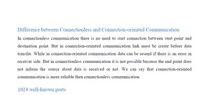 Difference between connection-less and connection-oriented services