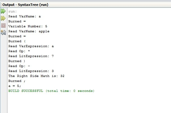 Simple parser-like program for math operations using syntax tree in Java
