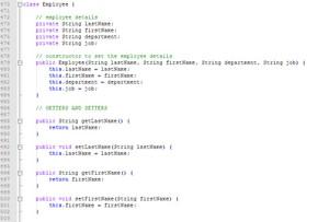Employee Database Application | Java Graphical User Interface Assignment Help | Java Homework