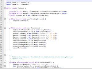 The Race Java Multi-Threading project with complete source code