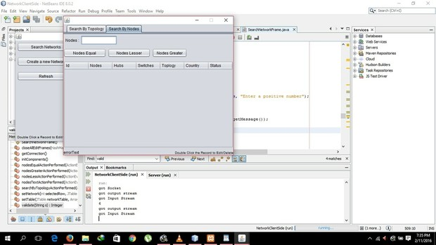 Client Server Application with Java DB and UML diagrams focusing on the Telecommunication Compay