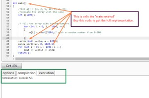 Merge Sort using Multi threading in C++