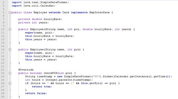 Key card system in Java according to the different 4 versions with full source code