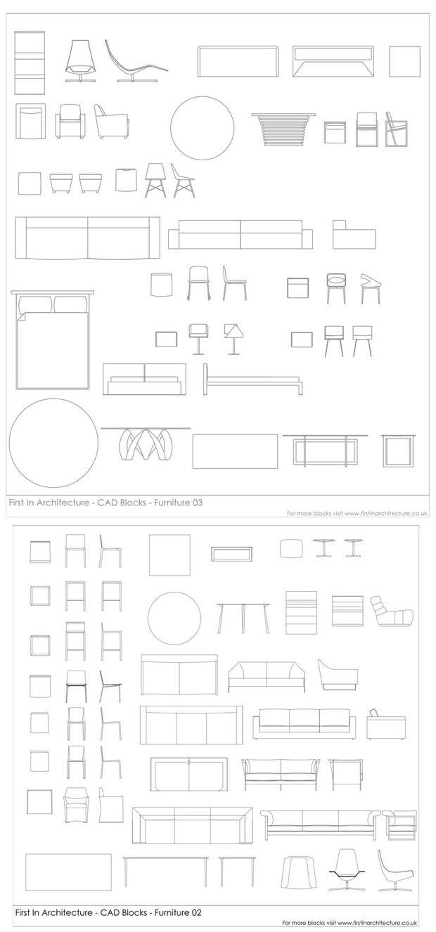 Furniture CAD Blocks 02 & 03 Bundle