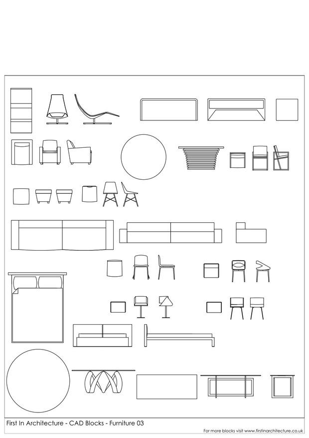 Furniture Cad Blocks 03