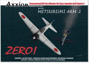 AXXION A72-001 Mitsubisho ZERO Paper Model