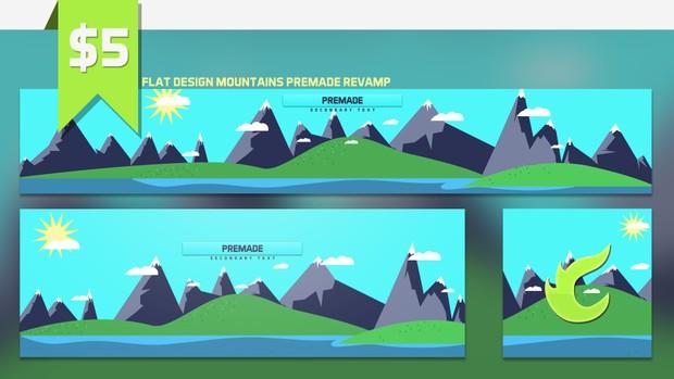 Flat Design Mountains Premade Revamp