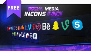 Social Media Icons Pack  [FREE]