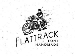 Flat Track Font