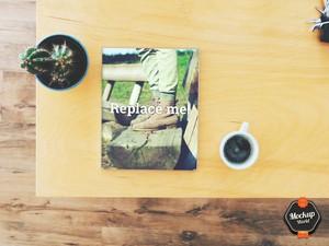Magazine on Table Mockup (PSD)