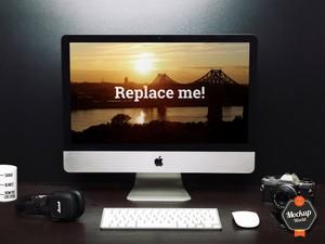 iMac on Desk Mockup (PSD)