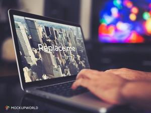 Working on MacBook Mockup (PSD)