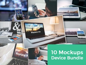 10 Mockups Device Bundle (PSD)