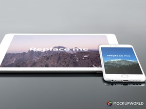 iPad and iPhone Mockup (PSD)