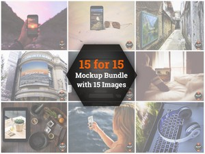 The 15 for 15 Mockup Bundle (PSD)