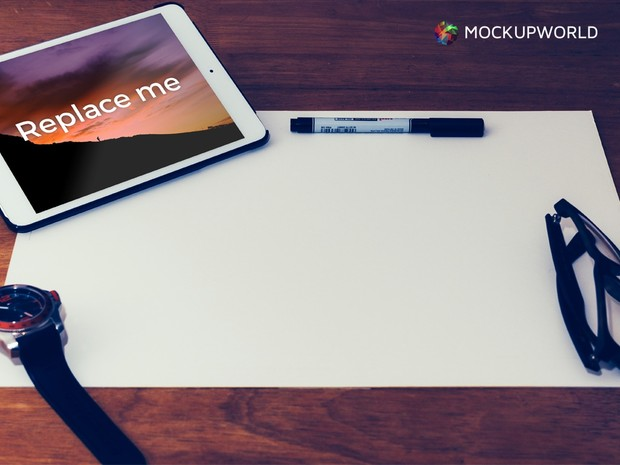 Hero Image with iPad Mockup (PSD)