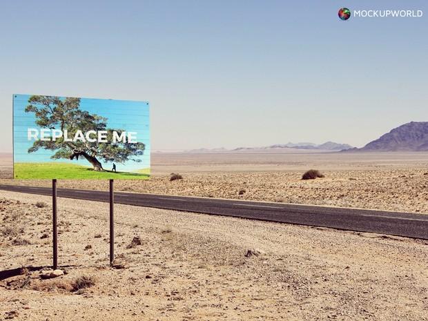 Desert Sign Mockup (PSD)