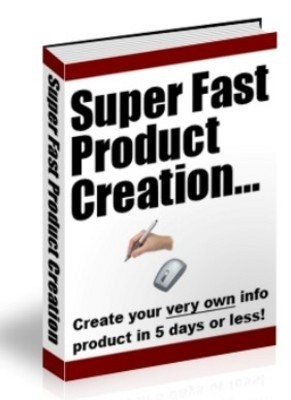 Super Fast Product Creation