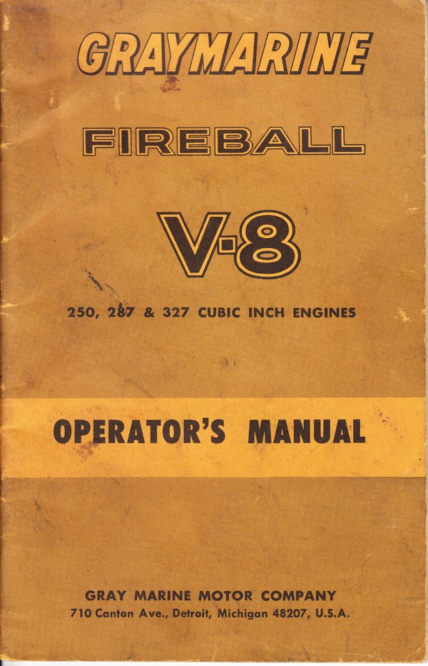 Graymarine Fireball V-8 Operator's Manual