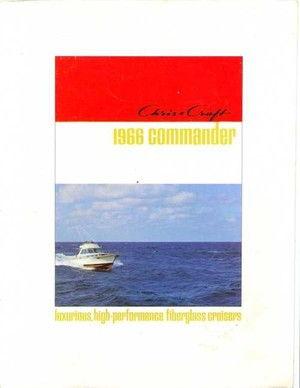 1966 Chris Craft Commander Catalog