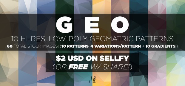 Geo   10 Low Poly Geometric Stock Images