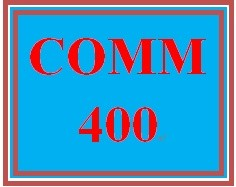 COMM 400 Week 2 Communications Journal Entry 2 – Nonverbal Communications in the