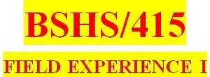 BSHS 415 Week 13 Weekly Journal Entry