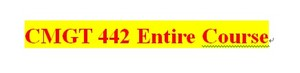 CMGT 442 Week 5 Your Career