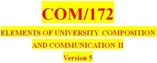 COM 172 Week 3 Thesis Statement and Outline