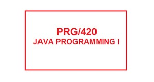 PRG 420 Week 1 Individual Create a Program