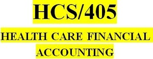 HCS 405 Week 3 Financial Statements Review