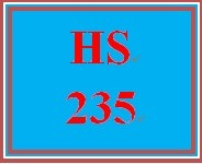 HS 235 Week 3 Supporting Reading and Discussion Activity