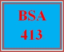 BSA 413 Week 2 Individual: Create a Service Catalog