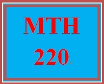 MTH 220 Week 1 StudyPlan for Week 1 CheckPoint