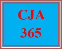 CJA 365 Week 4 City Council Budget Proposal Outline
