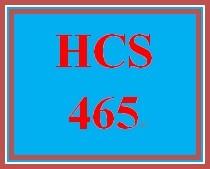 HCS 465 Week 3 Utilizing Research