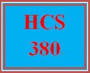 HCS 380 Week 4 Signature Assignment: Financial Statement