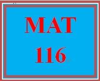 MAT 116 Week 1 MyMathLab Study Plan for Week 1 Checkpoint