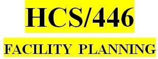 HCS 446 Week 1 Facility Planning – Facility Selection: Part 1