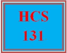 HCS 131 Week 1 Weekly Summary