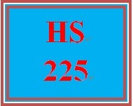 HS 225 Week 1 Student Reflection, Week 1