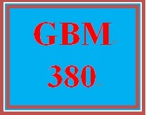 GBM 380 Entire Course