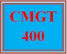 CMGT 400 Week 2 Learning Team: Organization Risks and Threats