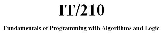 IT 210 Week 7 CheckPoint - Chapter 5 Programming Problems