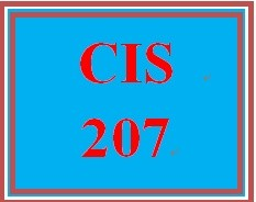CIS 207 Entire Course
