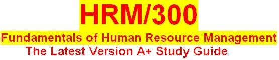 HRM 300 Week 1 Human Resource Management Overview Paper